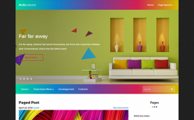 MultiColored Free WordPress Theme