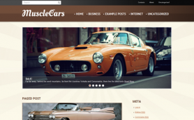 MuscleCars Free WordPress Theme