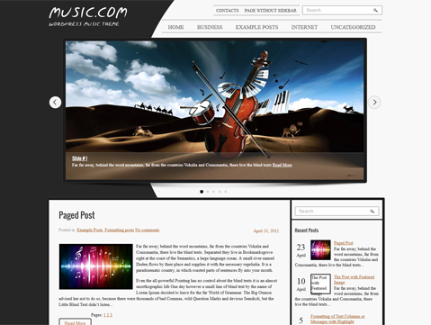 Musica WordPress Theme