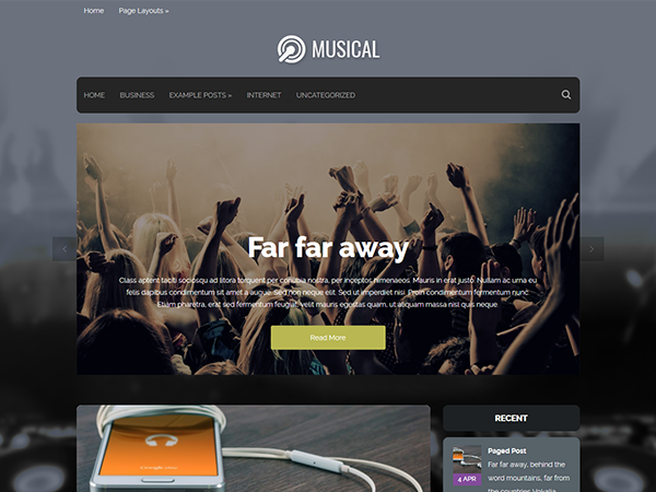 Musical Free WordPress Theme