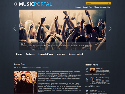 MusicPortal WordPress Theme