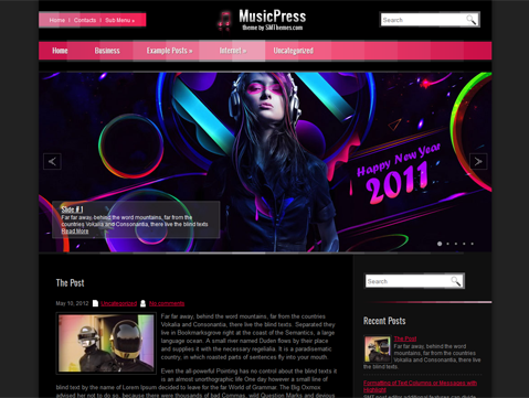 musicpress free wordpress theme