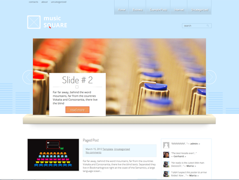 MusicSquare WordPress Theme