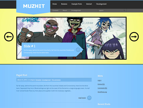 MuzHit Free WordPress Theme