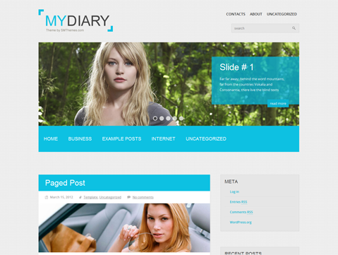 MyDiary Free WordPress Theme