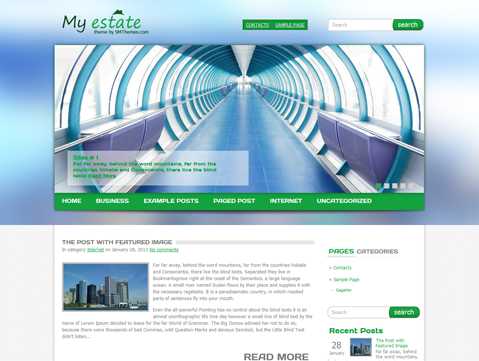 MyEstate WordPress Theme