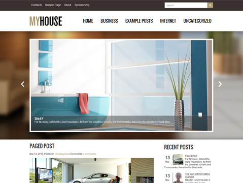 MyHouse Free WordPress Theme