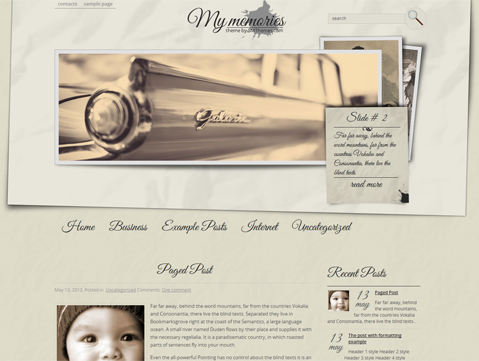 MyMemories Free WordPress Theme