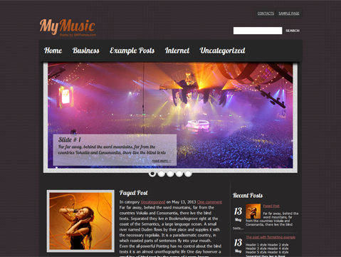 MyMusic WordPress Theme