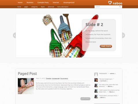 Naboo Free WordPress Theme