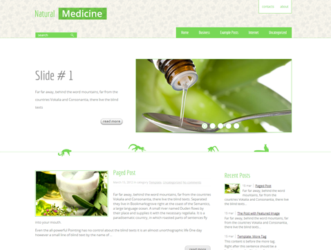 NaturalMedicine Free WordPress Theme