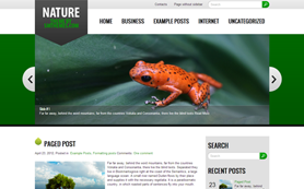 Nature Free WordPress Theme