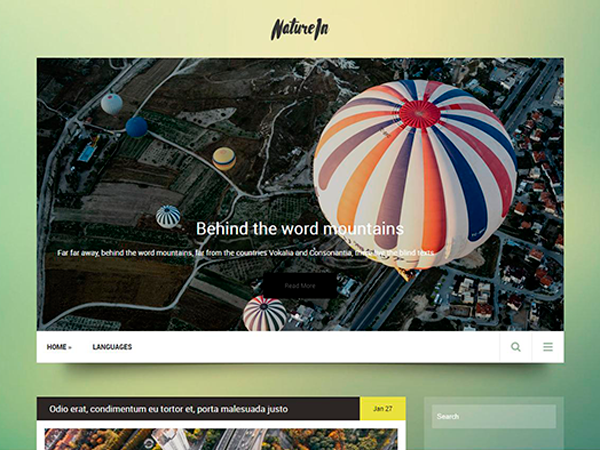 NatureIn Free WordPress Theme