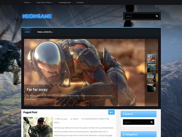 NeonGame WordPress Theme
