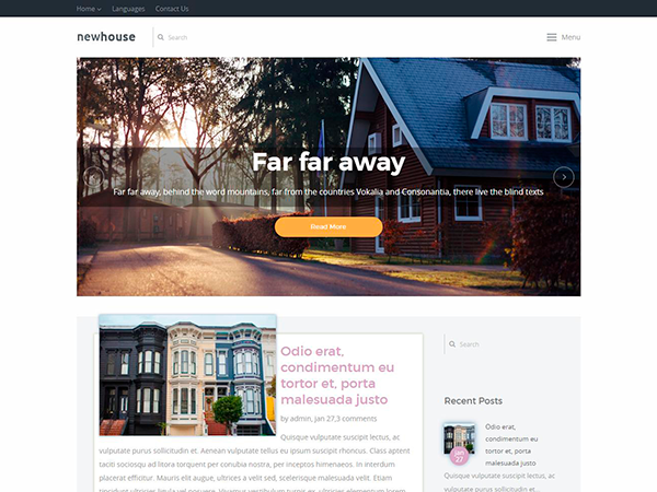 NewHouse Free WordPress Theme