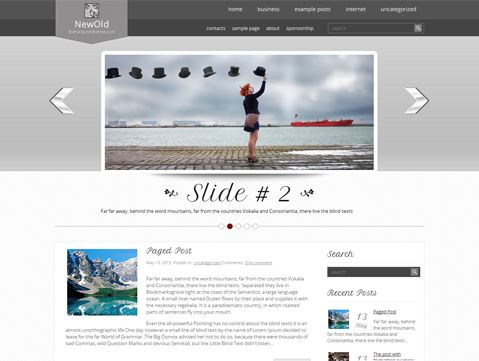 NewOld Free WordPress Theme