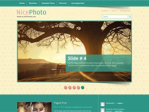 NicePhoto Free WordPress Theme