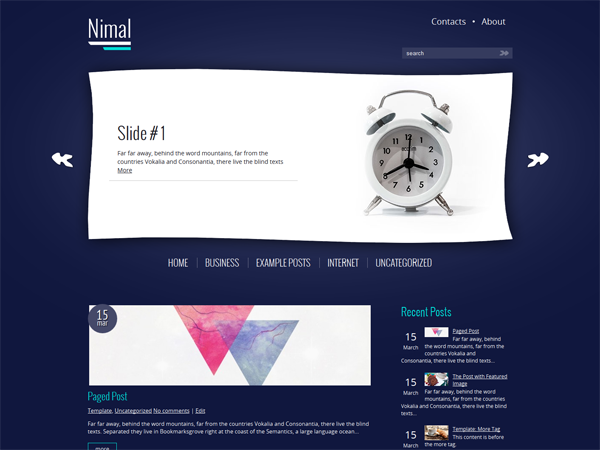 Nimal Free WordPress Theme