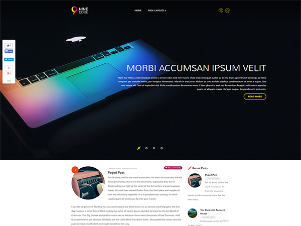 NineCore Free WordPress Theme