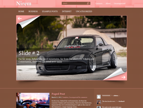 Nirem WordPress Theme