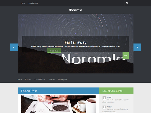 Noramla WordPress Theme