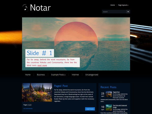 Notar Free WordPress Theme