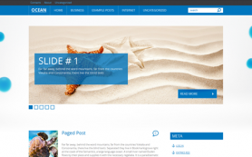 Ocean Free WordPress Theme