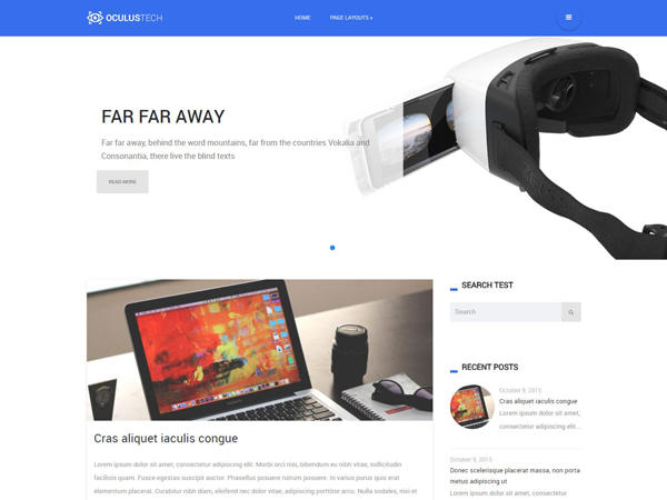 Oculustech Free WordPress Theme