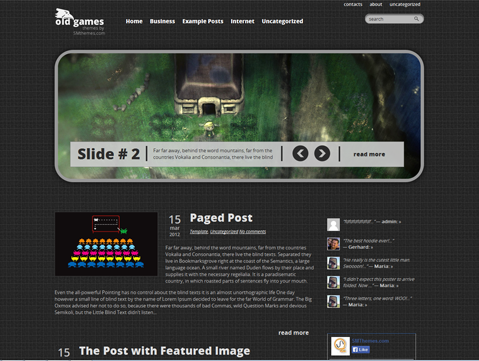 OldGames WordPress Theme