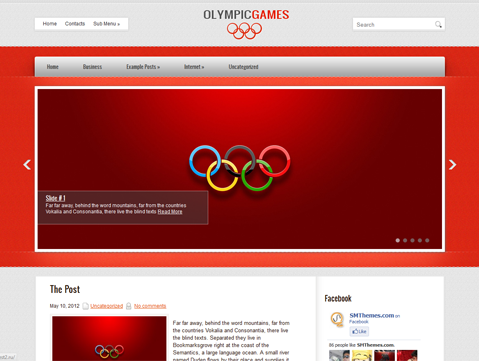 OlympicGames WordPress Theme