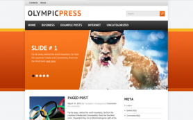 OlympicPress Free WordPress Theme