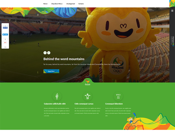 OlympicRio Free WordPress Theme
