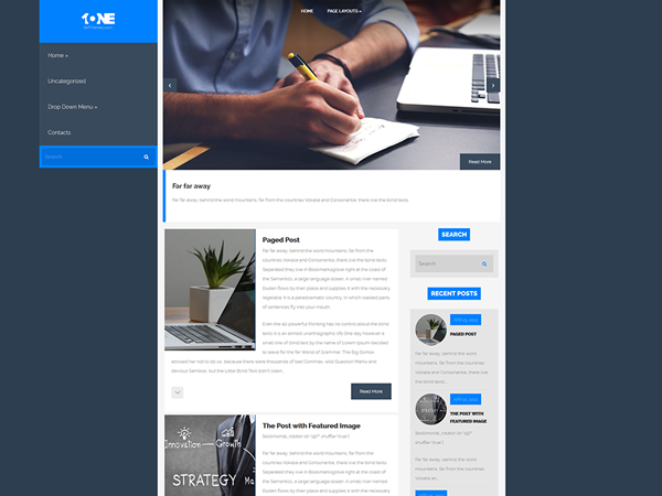 One Free WordPress Theme