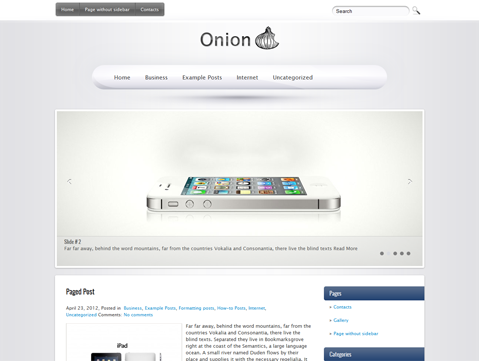 Onion Free WordPress Theme