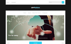 OpenBusiness Free WordPress Theme