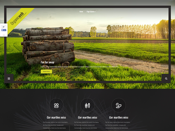 OrganicWeb Free WordPress Theme