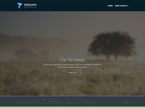 Origami Free WordPress Theme