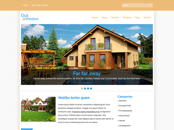 OutWindow Free WordPress Theme
