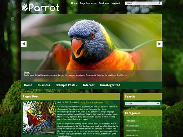 Parrot Free WordPress Theme