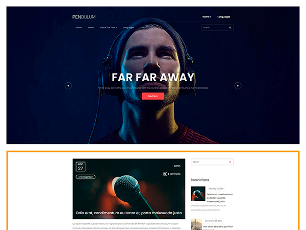 Pendulum Free WordPress Theme