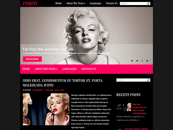PerFit Free WordPress Theme