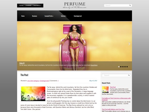 Perfume Free WordPress Theme