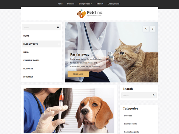 PetClinic WordPress Theme