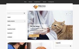 PetClinic Free WordPress Theme