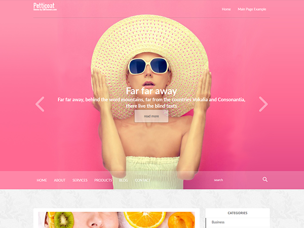 PettiCoat Free WordPress Theme