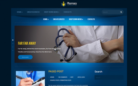 Pharmacy Free WordPress Theme