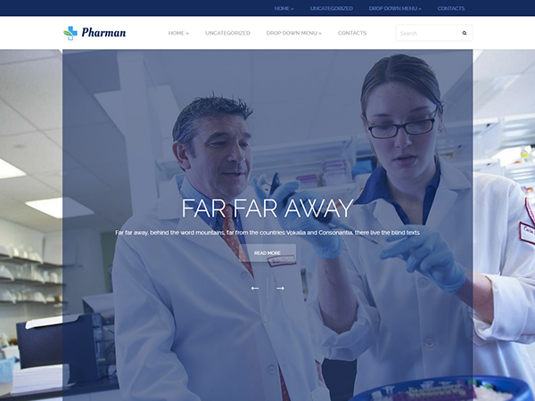 Pharman Free WordPress Theme
