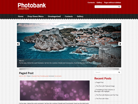 PhotoBank Free WordPress Theme