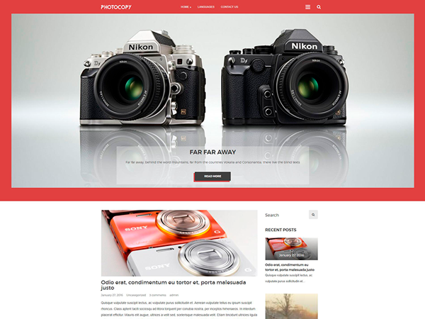 Photocopy Free WordPress Theme