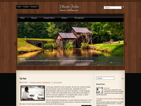 PhotoFolio Free WordPress Theme